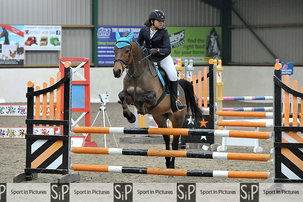 Class 2. British Showjumping Juniors. Brook Farm training centre. Stapleford abbots. Essex. 25/03/2018. ~ MANDATORY CREDIT Garry Bowden/SIPPA - NO UNAUTHORISED USE - +44 7837 394578