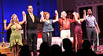 Jenni Barber, Cheyenne Jackson, Ari Graynor, Henry Winkler, Alicia Silverstone & Daniel Breaker during the Broadway Opening Night Performance Curtain Call for 'The Performers' at the Longacre Theatre in New York City on 11/14/2012