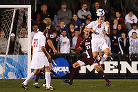 Ohio State Buckeyes forward Andrew Magill (10) heads the ball during an NCAA College Cup semi-final match at SAS Stadium in Cary, NC on December 14, 2007. Ohio State defeated Massachusetts 1-0.