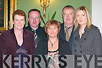NIGHT OUT: Enjoying the Kilcummin GAA Club Social in the Dromhall Hotel, Killarney, last Friday night were l-r: Joan Devane, Tim Casey, Teresa Casey, Mike Devane and Muire Devane. .