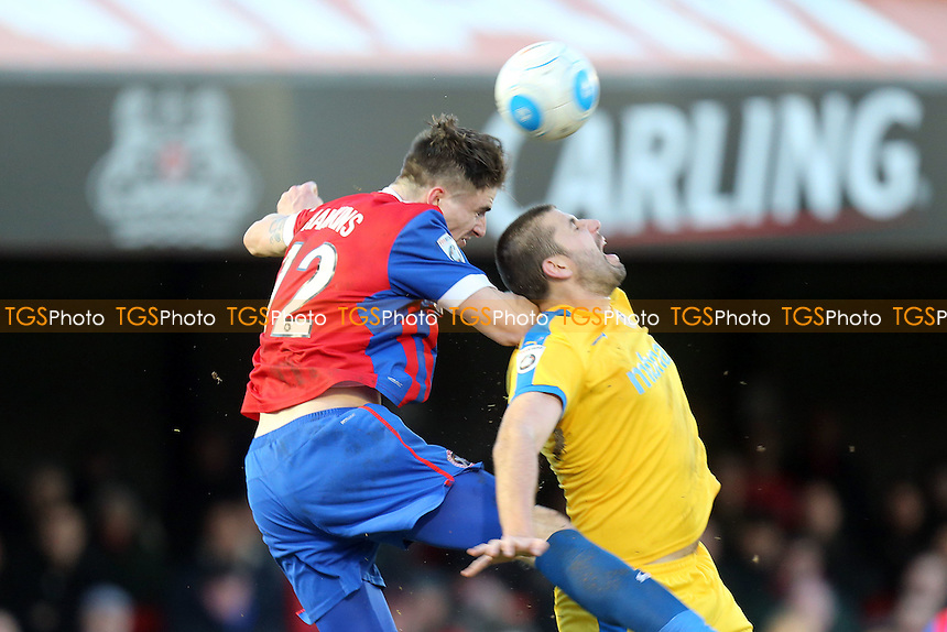 Oliver Hawkins of Dagenham and Ryan Astles of Chester during Dagenham & Redbridge vs Chester, Vanarama National League Football at the Chigwell Construction Stadium on 4th February 2017