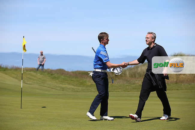 Connor Syme (Dumfries & Conway) defeated Ashton Turner (Kenwick Park) by just one hole during Round Two of the Match Play at The Amateur Championship 2014 from Royal Portrush Golf Club, Portrush, Northern Ireland. Picture:  David Lloyd / www.golffile.ie
