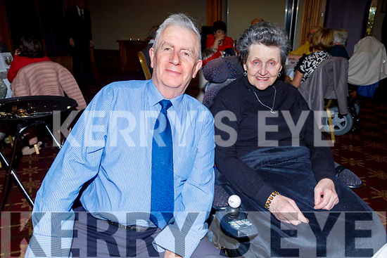 Tony and Breda O'Gorman (Ballybunion) Tralee Branch of the Irish Wheelchair Associations Christmas Party in the Meadowlands Hotel on Sunday.