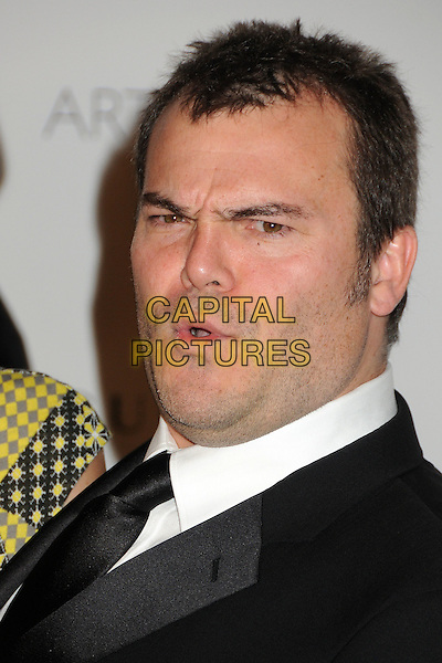 Jack Black.The Inaugural Art and Film Gala held at LACMA in Los Angeles, California, USA..November 5th, 2011.headshot portrait black white tie mouth open funny .CAP/ADM/BP.©Byron Purvis/AdMedia/Capital Pictures.