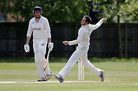 H Khan of Finchley during Finchley CC vs Brondesbury CC (batting), ECB National Club Championship Cricket at Arden Field on 12th May 2019