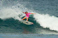 SUNSET BEACH, Oahu/Hawaii (Thursday, December 2, 2010) Stephanie Gilmore (AUS).  - Brazilian Raoni Monteiro (BRA) became the first Brazilian in 20 years to take out the Men's division of the O'Neill World Cup of Surfing today. Julian Wilson (AUS) who won the Rookie of the Triple Crown and is leading the Triple Crown ratings finished in 2nd with Granger Larsen (HAW) in 3rd and  Josh Kerr (AUS) in 4th .Contest  Wildcard Tyler Wright (AUS), 16,  won the O'Neill Women's World Cup of Surfing, topping Sunset Beach local Coco Ho (HAW), 19, reigning four-time ASP Women's World Champion Stephanie Gilmore (AUS), 22, and ASP Women's World Tour No. 2 Sally Fitzgibbons (AUS), 19, in two-to-four foot (1 metre) surf at Sunset Beach. Wright was also named Women's Rookie of the Triple Crown..Photo: joliphotos.com