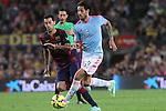 01.11.2014 Barcelona, Spain. La Liga day 10. Picture show Larrivey in action during game between FC Barcelona against Celta de Vigo at Camp Nou