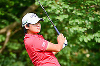 Yani Tseng (TAI)  watches her tee shot on 11 during Friday's round 2 of the 2017 KPMG Women's PGA Championship, at Olympia Fields Country Club, Olympia Fields, Illinois. 6/30/2017.<br /> Picture: Golffile | Ken Murray<br /> <br /> <br /> <br /> All photo usage must carry mandatory copyright credit (&copy; Golffile | Ken Murray)