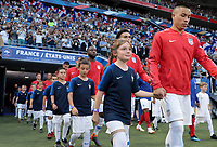Lyon, France - Saturday June 09, 2018: Bobby Wood and the U.S. Men's National team vs France during an international friendly match between the men's national teams of the United States (USA) and France (FRA) at Groupama Stadium.