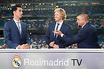 Former Real Madrid players Alvaro Arbeloa (l) and Roberto Carlos (r) at Real Madrid TV prior to the Santiago Bernabeu Trophy 2017 match between Real Madrid and ACF Fiorentina at the Santiago Bernabeu Stadium on 23 August 2017 in Madrid, Spain. Photo by Diego Gonzalez / Power Sport Images