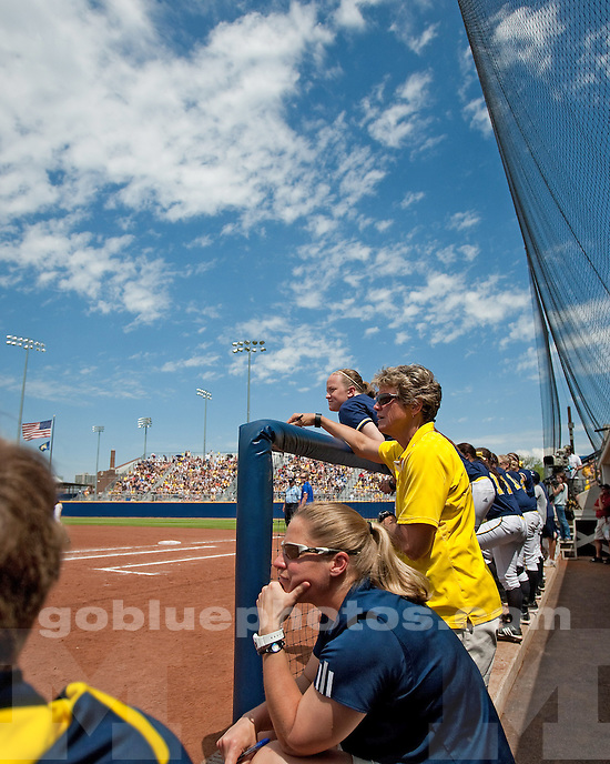 University of Michigan softball 2-1 loss to Kentucky in the NCAA Regional final in Ann Arbor, MI, on May 22, 2011.