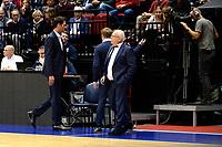 GRONINGEN - Basketbal, Donar - Spirou, Martiniplaza, Europe Cup, seizoen 2019-2020, 27-11-2019,  Spirou coach  Sam Rotsaert moet de zaal verlaten na technische fouten