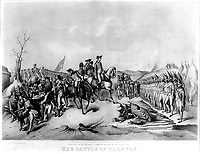 Surrender of the Hessian Troops to General Washington, after The Battle of Trenton. December 1776.  Copy of lithograph, 1850. (George Washington Bicentennial Commission)<br />Exact Date Shot Unknown<br />NARA FILE #:  148-GW-332<br />WAR & CONFLICT #:  31