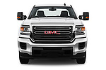 Car photography straight front view of a 2017 GMC Sierra 3500HD Double 4WD Cab Long Box 4 Door Pick Up