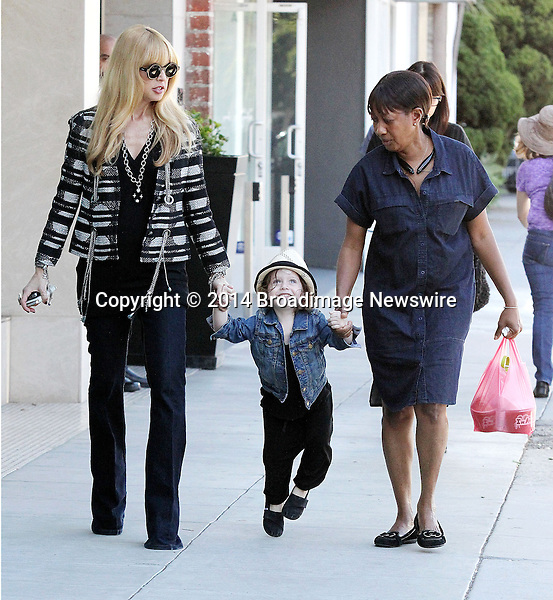 Pictured: Rachel Zoe, Skyler Berman<br /> Mandatory Credit &copy; Patron/Broadimage<br /> ***EXCLUSIVE***<br /> Rachel Zoe takes her son Skyler Morrison Berman for some frozen Yogurt at Froyo Life in Beverly Hills<br /> <br /> 1/13/14, Beverly Hills, California, United States of America<br /> <br /> Broadimage Newswire<br /> Los Angeles 1+  (310) 301-1027<br /> New York      1+  (646) 827-9134<br /> sales@broadimage.com<br /> http://www.broadimage.com