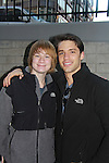 David Gregory and Austin Williams on the last day of shooting of The Soap Opera One Life To Live at the One Life To Live Studio on November 18, 2011, New York City, New York. (Photo by Sue Coflin/Max Photos)
