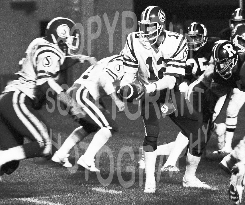 John Hufnagel Saskatchewan Roughrider quarterback 1980-1983. Photo Scott Grant
