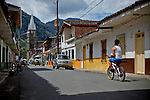 Streets of the town of Jardin in Antioquia August 1, 2012. Photo by Eduardo Munoz Alvarez / VIEW.