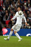 Pictured: Ki Sung-Yueng. Sunday 24 February 2013<br /> Re: Capital One Cup football final, Swansea v Bradford at the Wembley Stadium in London.