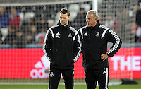 SWANSEA, WALES - MARCH 16: Alan Curtis of Swansea (R)<br />