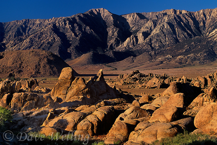 711700137 granite boulders at the base of lone pine peak and the eastern sierras in the alabama hills kern county california