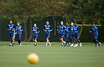 26.09.2018 Rangers training: The starters from last night having a light recovery session