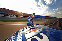 Oct 2, 2008; Talladega, AL, USA; ARCA RE/MAX Series driver Ricky Stenhouse Jr during qualifying for the Remax 250 at Talladega Superspeedway. Mandatory Credit: Mark J. Rebilas-