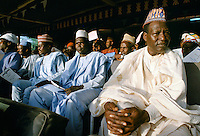 Nigerians at tribal gathering durbar cultural event at Maiduguri in Nigeria, West Africa