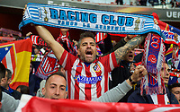 Atletico Madrid supporters during the UEFA Europa League 1st leg match between Arsenal and Atletico Madrid at the Emirates Stadium, London, England on 26 April 2018. Photo by Andrew Aleksiejczuk / PRiME Media Images.