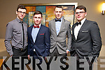 Cian Sayers, John McCarthy, David Murphy, Jack Shortt enjoying the Kerins O'Rahilly Social at Ballyroe Heights Hotel on Saturday