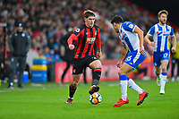 Connor Mahoney of AFC Bournemouth takes on Reece James of Wigan Athletic during AFC Bournemouth vs Wigan Athletic, Emirates FA Cup Football at the Vitality Stadium on 6th January 2018