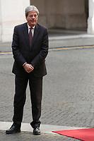 Paolo Gentiloni<br /> Roma 05/04/2017. Palazzo Chigi. Il Premier riceve il Principe del Galles.<br /> Rome April 5th 2017. Palazzo Chigi. Italian Premier receives the Prince of Wales.<br /> Foto Samantha Zucchi Insidefoto