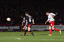 Greg Tansey of Stevenage shoots wide. Stevenage v Crawley Town - npower League 1 -  Lamex Stadium, Stevenage - 15th December, 2012. © Kevin Coleman 2012..