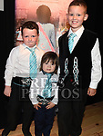 Jamie Martin, Sean Dunne and Karl Wilson Vaughey who took part in the Caroline Campbell Academy of Irish Dancing show in the Droichead Arts Centre. Photo:Colin Bell/pressphotos.ie
