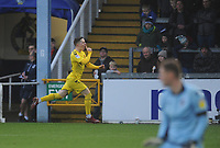 Fleetwood Town's Ashley Hunter celebrates scoring the opening goal <br /> <br /> Photographer Kevin Barnes/CameraSport<br /> <br /> The EFL Sky Bet League One - Bristol Rovers v Fleetwood Town - Saturday 22nd December 2018 - Memorial Stadium - Bristol<br /> <br /> World Copyright © 2018 CameraSport. All rights reserved. 43 Linden Ave. Countesthorpe. Leicester. England. LE8 5PG - Tel: +44 (0) 116 277 4147 - admin@camerasport.com - www.camerasport.com
