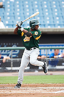 Carlos Williams #41 of Covington High School in Covington, Tennessee playing for the Oakland Athletics scout team during the East Coast Pro Showcase at Alliance Bank Stadium on August 1, 2012 in Syracuse, New York.  (Mike Janes/Four Seam Images)