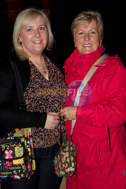 Leah and Margaret Hensey head to the TLT to see the Nuttcracker ballet for Margaret's birthday..Picture: Shane Maguire / www.newsfile.ie