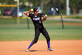 Nazareth College Golden Flyers Sarah Papponetti (4) during a game against the Edgewood Eagles on March 12, 2017 at North Collier Park in Fort Myers, Florida.  (Mike Janes/Four Seam Images)