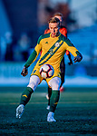 13 November 2019: University of Vermont Catamount Forward Rasmus Tobinski, a Freshman from Kiel, Germany, in action against the University of Hartford Hawks at Virtue Field in Burlington, Vermont. The Catamounts fell to the visiting Hawks 3-2 in sudden death overtime of the Division 1 Men's Soccer America East matchup. Mandatory Credit: Ed Wolfstein Photo *** RAW (NEF) Image File Available ***