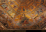 13th c Ceiling Mosaics detail Last Judgement section Baptistry of San Giovanni Florence
