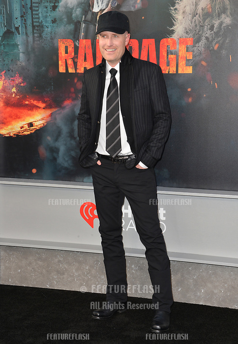 Andrew Lockington at the premiere for &quot;Rampage&quot; at the Microsoft Theatre, Los Angeles, USA 04 April 2018<br /> Picture: Paul Smith/Featureflash/SilverHub 0208 004 5359 sales@silverhubmedia.com