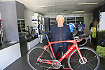 Founder Ugo De Rosa still working at the De Rosa factory, Cusano Milanino, Italy. 12th October 2018.<br /> Picture: Eoin Clarke | Cyclefile<br /> <br /> <br /> All photos usage must carry mandatory copyright credit (© Cyclefile | Eoin Clarke)