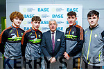 Paul Walsh (All Ireland Minor player of the year 2018) Jack Kennelly (Kerry Minor) Ogie Moran ( holder of 8 senior All Ireland football medals) James McVeigh and Eddie Browne both KY Minors at the reopening of the Listowel Community Centre and Fitness Gym last Friday evening.