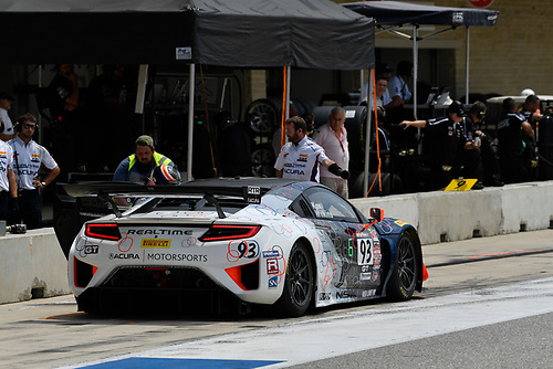 Pirelli World Challenge<br /> Grand Prix of Texas<br /> Circuit of The Americas, Austin, TX USA<br /> Sunday 3 September 2017<br /> Peter Kox/ Mark Wilkins pit stop<br /> World Copyright: Richard Dole/LAT Images<br /> ref: Digital Image RD_COTA_PWC_17289