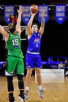 Saints' Anzac Rissetto in action during the NBL - Cigna Saints v Manawatu Jets at TSB Bank Arena, Wellington, New Zealand on Sunday 16 June 2019. <br /> Photo by Masanori Udagawa. <br /> www.photowellington.photoshelter.com