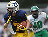 Garrett Gibbons #7 of Massapequa rushes for a gain during a Nassau County Conference I varsity football game against Farmingdale at Massapequa High School on Saturday, Oct. 8, 2016. Farmingdale won by a score of 45-42.