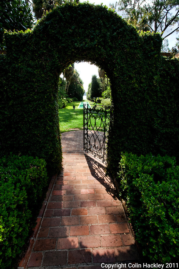 ALFRED B. MACLAY GARDENS STATE PARK: The east gate of the walled garden leads to Lake Hall..COLIN HACKLEY PHOTO