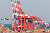 The Port Newark Container Terminal facility in the Port Newark-Elizabeth Marine Terminal in Newark Bay.
