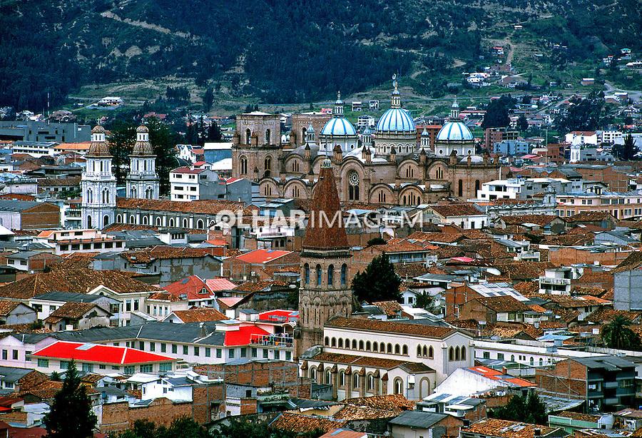 Vista da cidade de Cuenca, Equador.<br /> Foto de Juca Martins.<br /> Data. 1997.