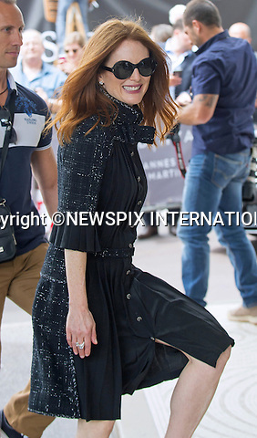 13.05.2015; Cannes France: 68th Cannes Film Festival - JULIANNE MOORE<br /> arrives at the Hotel Martinez.<br /> Mandatory Credit Photo: &copy;Franck Castel/NEWSPIX INTERNATIONAL<br /> <br /> **ALL FEES PAYABLE TO: &quot;NEWSPIX INTERNATIONAL&quot;**<br /> <br /> PHOTO CREDIT MANDATORY!!: NEWSPIX INTERNATIONAL(Failure to credit will incur a surcharge of 100% of reproduction fees)<br /> <br /> IMMEDIATE CONFIRMATION OF USAGE REQUIRED:<br /> Newspix International, 31 Chinnery Hill, Bishop's Stortford, ENGLAND CM23 3PS<br /> Tel:+441279 324672  ; Fax: +441279656877<br /> Mobile:  0777568 1153<br /> e-mail: info@newspixinternational.co.uk